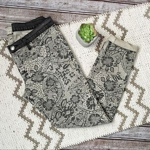 Current/Elliot The Ankle Skinny Light Grey Lace